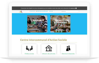 responsive design social services, Riscle, south west france